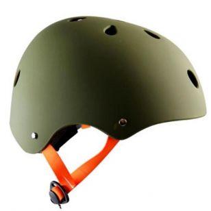 CASQUE ENFANT POLISPORT URBAN RADICAL URBAIN/BMX/SKATE TAG KAKI AVEC REGLAGE OCCIPITAL 53/55